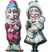 Punch and Judy Printed Cloth Dolls