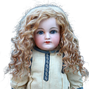 Cheri w Side Part~ Strawberry Blond Mohair Wig (Size 8-9)