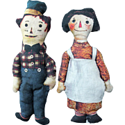 Raggedy Ann & Andy Printed Cloth Dolls