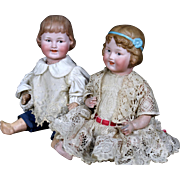 Pair of Gebruder Ohlhaver Revalo Brother and Sister Characters
