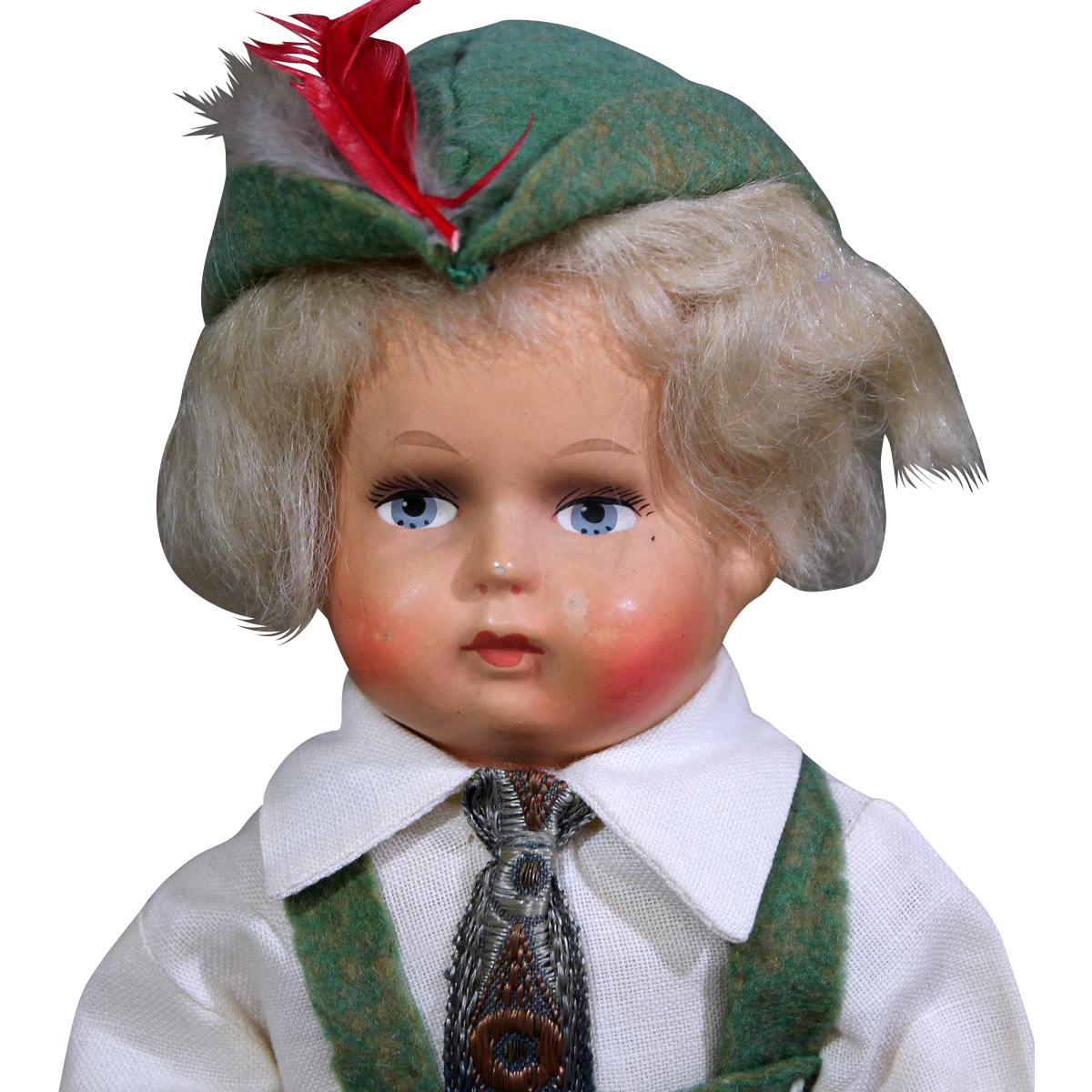World Costume Doll from Newark Museum as German Boy in Original Box