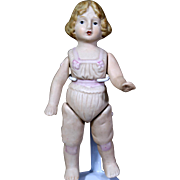 "5.5"" All Bisque Doll with Molded Clothes"