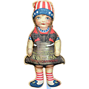 Antique Liberty Bell Litho Cloth Doll