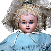 Uncommon Papier Mache Doll  in Original Costume by Lucky Peck