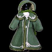 Bleuette Size Victorian Coat and Bonnet
