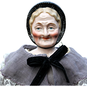 """Rare Two-Faced """"Youth and Old Age"""" German China Doll"""