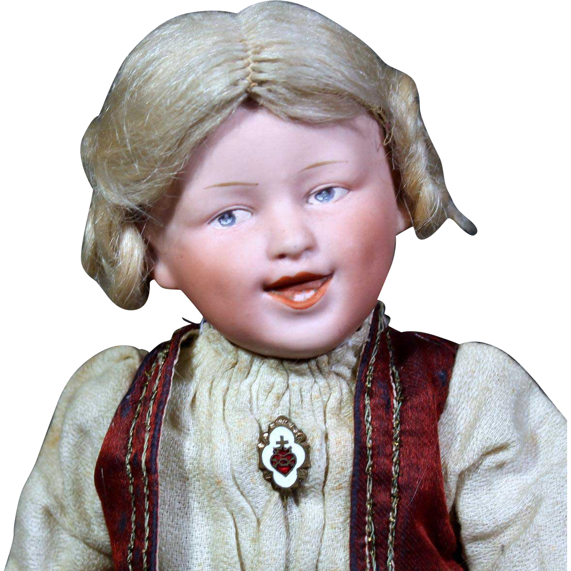 Heubach Laughing Child Bisque Character
