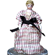 Tinted Bisque Dollhouse doll with Nice Updo
