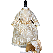 Vintage Lace Covered Dress with matching Bonnet