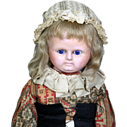 All Original Wax-Over Composition Doll with Sleep Eyes