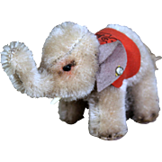 Steiff Smallest Elephant w Steiff Saddle, Button