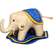 Steiff Elephant Felt Pin Cushion with Button ~ Museum collection
