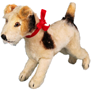 Steiff  1950's Terrier Dog with Button