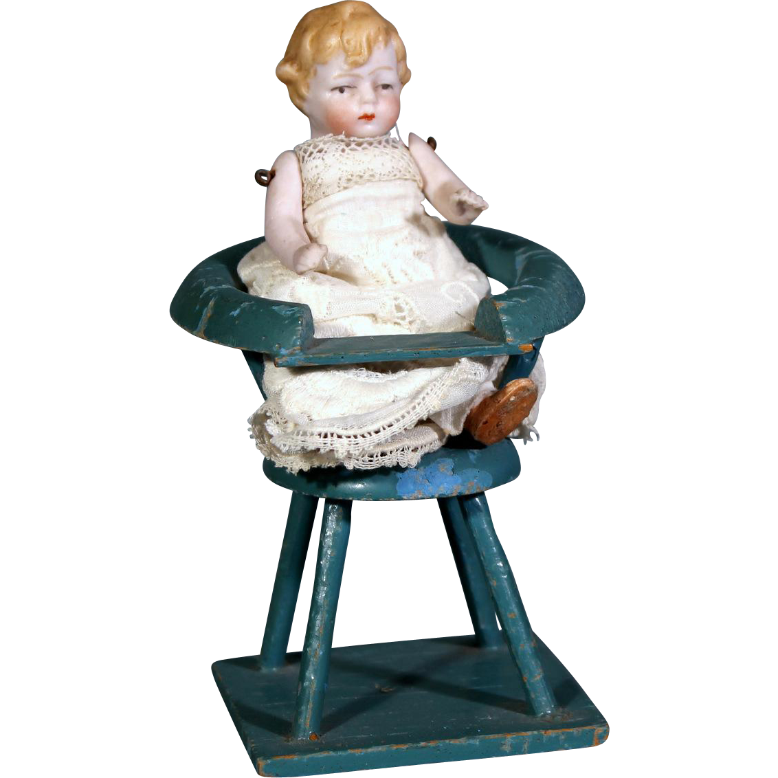 Hertwig All-Bisque in High Chair