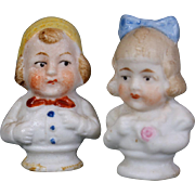 German Bisque Miniature Bisque Pair