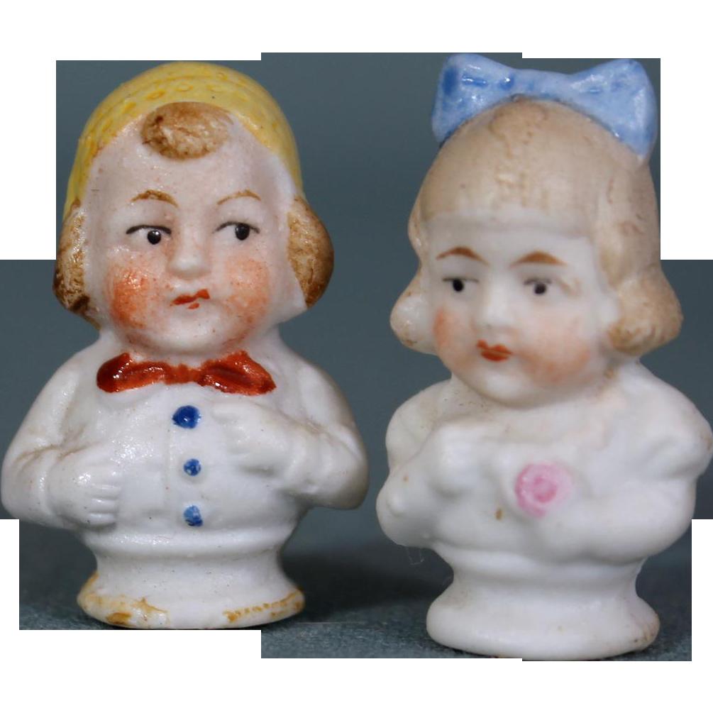 German Bisque Miniature Bisque Pair