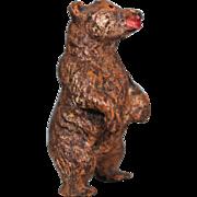 Carved Wood Miniature Bear