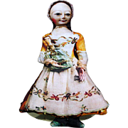 Queen Anne Printed Cloth Doll
