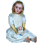 Large Handwerck 99 DEP German Bisque Child  with Original Wig~ 32 inches