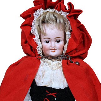 Carl Bergner 3 Face Doll  as Little Red Riding Hood  with Baby