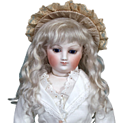 Amalie ~ Ash Blond Mohair Wig (Size 7-8)