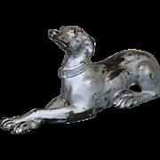Metal Borzoi Dog in Sitting Position