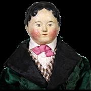 Papier Mache Boy in Original Regency Garbs