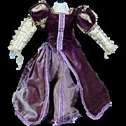 Tudor Style Velvet Costume