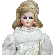 Tiny German Bisque ABG Doll  with Cobalt Eyes #1044