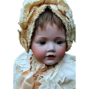 "Kestner's Beloved Wigged Baby ""Hilda"" Sumptuously Costumed and Large"
