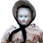 1850's Papier Mache Pauline in Early Clothing