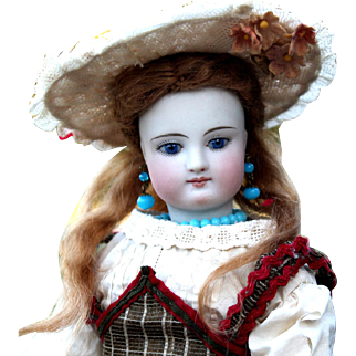 Simon Halbig Child Fashion with Bisque Arms, Orig Wig, Antique Outfit ~ CHOICE