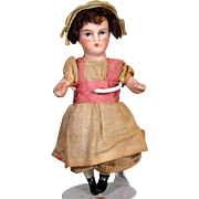 All Bisque Dolhouse doll in Original Clothing, Painted Eyes