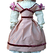 "Silk Taffeta Swiss Dress for 15"" French Doll"
