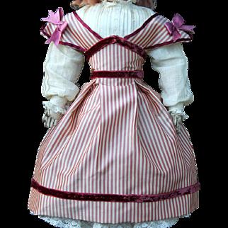 "Silk Taffeta Swiss Dress for 15"" French Doll"