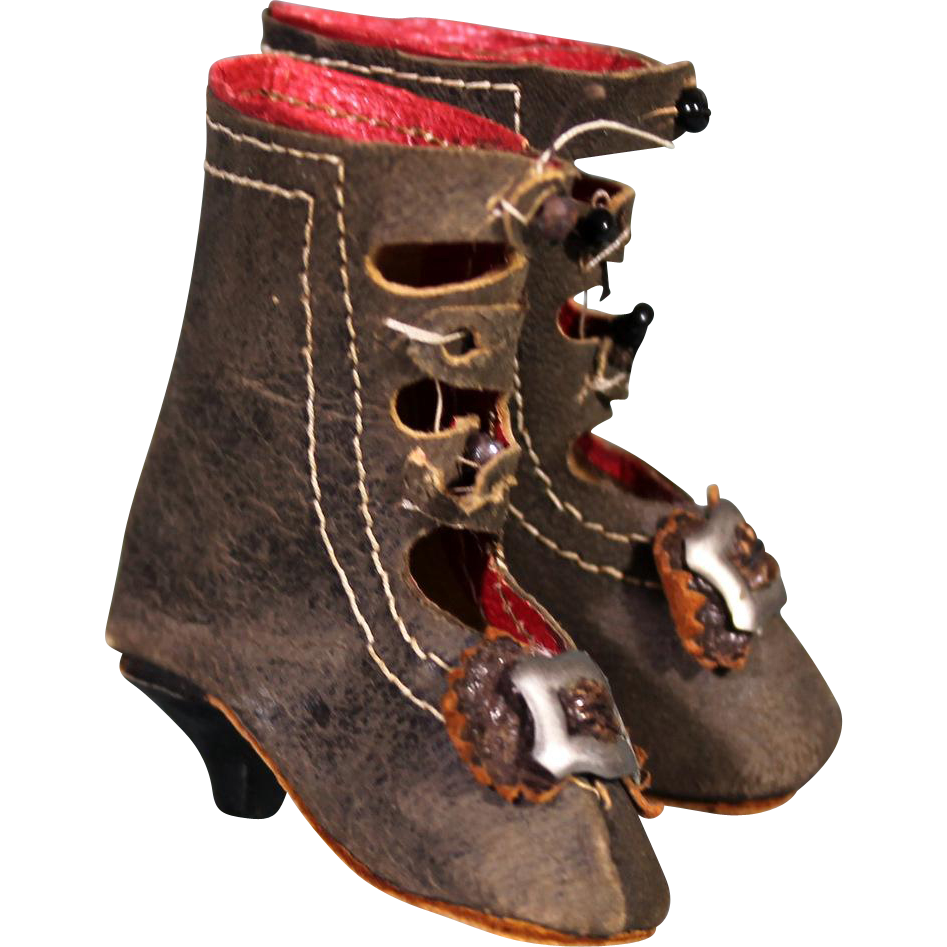 Antique Doll Shoes For Sale