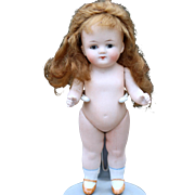 All-Bisque German Bisque Child, 6.5 inches tall
