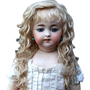 Grace ~ (Size 8-9) Blond Side Part with Extensions Mohair Wig