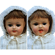 Composition Two Faced Carl Bergner Doll with Mama Crier