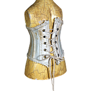 "Antique French Fashion Silk Corset with bone Inserts for 18"" Fashion"