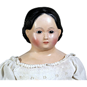 Glass Eyed Papier Mache with Greiner Hairstyle
