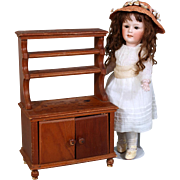 Vintage Pine Hutch for Doll Display