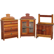 Three Piece Furniture Set Doll Sized