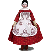 Beautiful Covered wagon China girl in Turkey Red