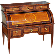 Louis XVI  Bureau a Cylindre  by renown Miniature French artist Pat Herbillon - Red Tag Sale Item