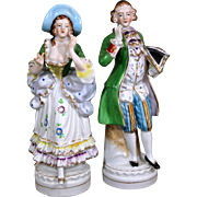 French Figurines Porcelain Pair