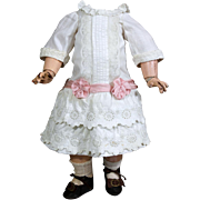 French Bebe Broderie Anglaise Cotton &  Silk Costume