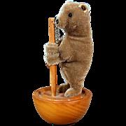 Steiff Tumbler Mohair Bear with button ~ Replica of 1894