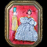 Mid 19th Century Enameled Lady's Pillbox