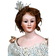 """Uncommon Bisque Lady Doll by Gebruder Heubach, 12"""""""
